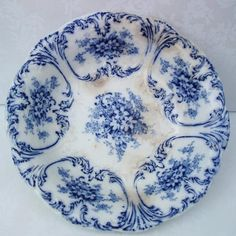 Antique Flow Blue Flow Blue Pottery Serving Dishes by WhimzyThyme,