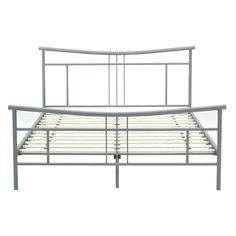 full size modern metal platform bed frame with headboard and footboard