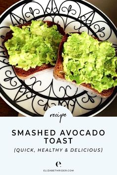 Click through to get the most perfect Smashed Avocado Toast Recipe. This quick, easy, healthy & delicious treat it´s great for breakfast or as a healthy snack!. #ElizabethRider #AvocadoToast #HealthySnacks