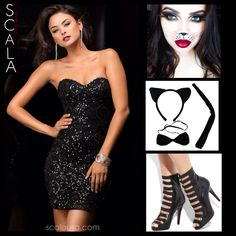Cat got your tongue? Be the best looking Kitty Cat at all your Halloween Festivities with #SCALA 48349 Black. #Halloween2014 #Halloween #CatCostume