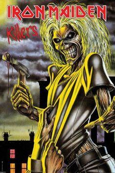 Iron Maiden (Killers) Music Poster Print - Poster Print, PDecorate your home or office with high quality posters. Iron Maiden (Killers) Music Poster Print - is that perfect piece that matches your style, interests, and budget. Arte Heavy Metal, Heavy Metal Music, Heavy Metal Bands, Iron Maiden Album Covers, Iron Maiden Albums, Rock Posters, Band Posters, Iron Maden, Hard Rock