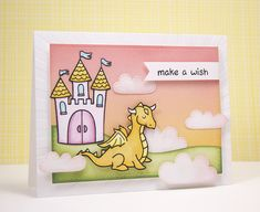 Lawn Fawn - Critters Ever After, Spring Showers Lawn Cuts _ Beautiful card by Yainea _ Sparkling Dragon   Flickr - Photo Sharing!