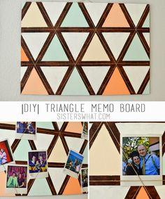 DIY Triangle Memo Board