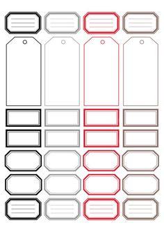 DIGITAL SCRAP : Étiquettes à imprimer :