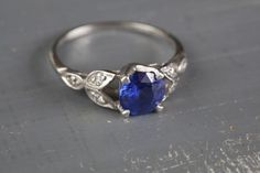 Vintage art deco 1920's sapphire ring. Hubby surprised me with this :)