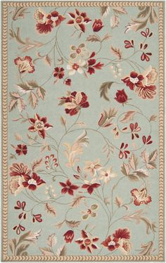 Stylishly anchor your living room or master suite with this lovely hand-hooked wool rug, showcasing a blooming floral motif. Shabby Chic Rug, Shabby Chic Homes, Tapete Floral, Flor Rug, Clearance Rugs, Joss And Main, Throw Rugs, Warm Colors, Rug Runner