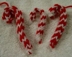 Loom knitted ornaments