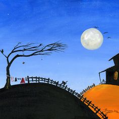 acrylic on canvas folk art - Google Search