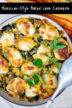 This Moroccan lamb casserole is layered with lamb, potatoes, collards and cheese, then baked in light cream. An indulgent dish that is fragrant and spicy #lamb #casserole #dinner #skilletrecipes Best Gluten Free Recipes, Easy Healthy Recipes, Delicious Recipes, Healthy Food, Tagine Recipes, Gluten Free Dinner, Light Cream, Recipe Collection, Free Meal