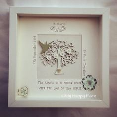 Beautiful! Personalised wooden family tree