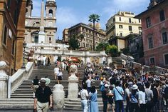 Rome - The Spanish Steps.  Fond memories of drinking wine and being serenaded by young Italian men playing guitars...