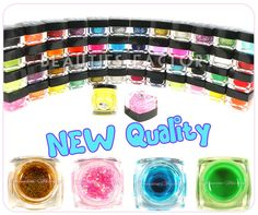 New Auth12 pcs of Different Color Glitter Shimmer UV Builder Gel For Shiny Coat