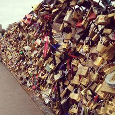 the lock bridge in Paris!