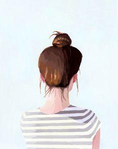 elizabeth mayville - top knot series - brunette