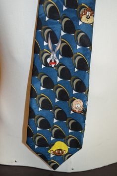 Vintage Looney Tunes Mania Bugs Bunny & Friends Full Length Necktie by FloridaFinderApparel on Etsy