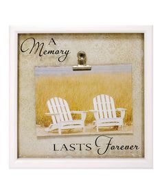 'A Memory Lasts Forever' Wall Art by New View on #zulily 5/11/13. Reg $16., Now $8.99.;  Size: 9''W x 9''H x 1.12''D;  Medium-density fiberboard;  Sawtooth hanger;  Imported.