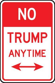 No Trump signs