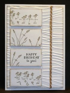 SU Wetlands card by Maria Bday Cards, Birthday Cards For Men, Masculine Birthday Cards, Masculine Cards, Hand Made Greeting Cards, Greeting Cards Handmade, Scrapbook Cards, Scrapbooking, Nautical Cards