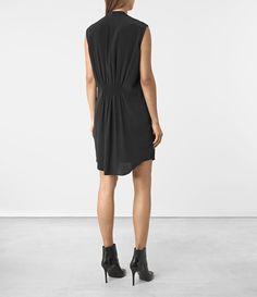 ALLSAINTS UK: Womens Sirius Silk Dress (Black)