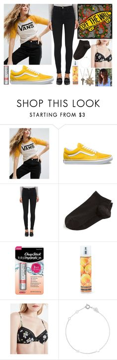 """No Title #161"" by emily102901 ❤ liked on Polyvore featuring Vans, Frame, Wolford, Chapstick, Nicole Miller, John Lewis, Estella Bartlett and The Giving Keys"