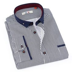 ac357f7afdf Langmeng 2017 Fashion Mens Plaid Shirt Cotton High Quality Dress Shirts Men  Casual Slim Fit Long