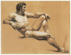 Jacques Reattu (French, 1760-1833), Male Nude Study, 3rd quarter of 18 century, Musee Reattu, Arles