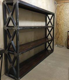 Купить Стеллаж BAGDAD - коричневый, стеллаж на заказ, стеллаж из металла, лофт стеллаж, стеллаж, лофт