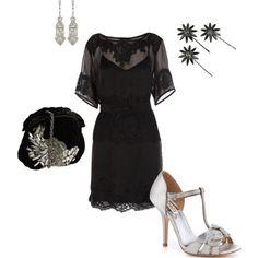 Little black dress + silver accents = Gorgeous!