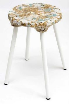 Kulla Design Created A Stool With A Top Developed Partially From Sawdust.