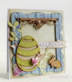 easter card with die-Cut and distressed with brown ink pad  http://www.hurt.scrap.com.pl/tusz-pigmentowy-do-stempli-i-embossingu-brazowy.html
