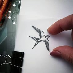 Search inspiration for a Minimal tattoo. Mini Tattoos, Little Tattoos, Wrist Tattoos, Arm Tattoo, Body Art Tattoos, Small Tattoos, Sleeve Tattoos, Tatoos, Tatoo Bird