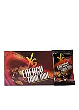 A Mix of Positive Energy!  XS™ Energy Trail Mix features an energetic and delectable blend of fruits and nuts. It's a quick snack that delivers dark-chocolate espresso bean deliciousness and unstoppable energy!