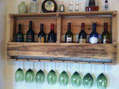 Rustic Wine Rack Reclaimed Wood Handmade by GreatLakesReclaimed