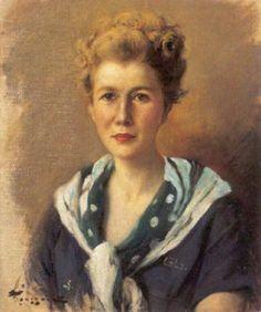 """""""Portrait de Madame Labrique"""" -- by Fernand Toussaint (Belgian, 1873–1955)"""