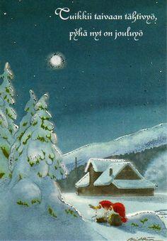 Eva Melhuish,Kjell E.Midthun,not for trade Christmas Tale, Swedish Christmas, Christmas Photos, Christmas Greetings, Christmas Cards, Retro Illustration, Christmas Illustration, Baumgarten, Elves And Fairies