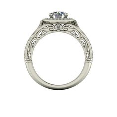 Beautifully crafted vintage engagement ring! #motifjewels