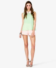 Sequined Peter Pan Collar Top | FOREVER 21 - 2040496029