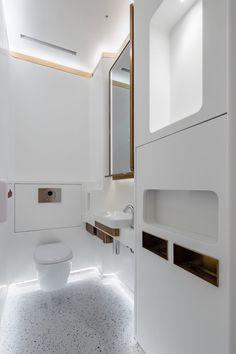 H Zentre — CL3 Luxury Toilet, Retail Interior Design, Public Bathrooms, Workplace Design, Round Corner, Indoor Air Quality, Double Vanity, Bathroom Lighting, Custom Design