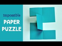 """Try out the impossible paper puzzle with your kids. This fun paper trick is a clever brain teaser for all ages and will make you gasp, """"WHOA!"""""""