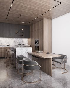 Design project of the apartment Moscow on Behance Loft Interior, Modern Home Interior Design, Beautiful Interior Design, Bathroom Interior Design, Kitchen Interior, Home Decor Kitchen, Home Kitchens, Corridor Design, Design Projects