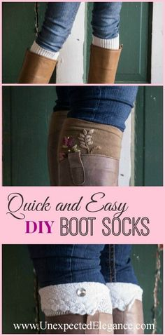 Quick and Easy Boot Socks. Great For Gift Giving