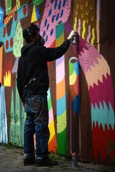 Pez & Zosen Murals in Zohn, Germany | Wooster Collective