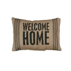 Vintage Sack Pillow - Welcome Home