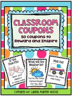 Classroom Coupons-50 Coupons to Reward and Inspire