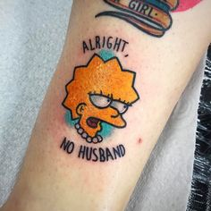 """610 Likes, 3 Comments - MATT DANIELS TATTOONIST (@stickypop) on Instagram: """"Little Lisa Simpson for the other half of the loveliest couple to tattoo - Thanks Freya ⚡thank you…"""""""