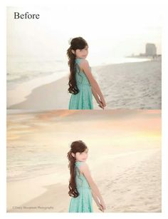 Before and After,  Tracy Shoopman Photography, photo shop,  beach, aqua.