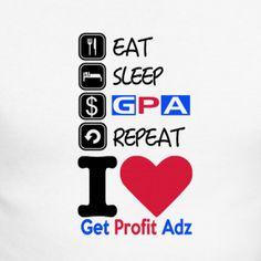Get Profit Adz Langarm Shirt Herren weiss   GetprofitAdz