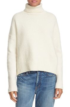 Vince Fuzzy Wool Blend Turtleneck available at #Nordstrom