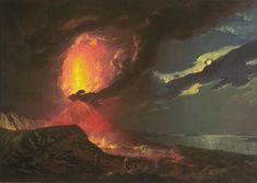 Joseph Wright of Derby Vesuvius in Eruption, with a View over the Islands in the Bay of Naples c.1776–80