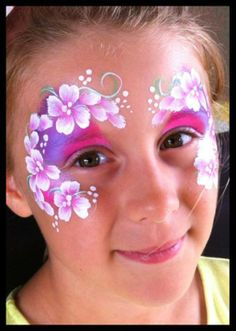 Flower Eye Design - Face Painting Idea